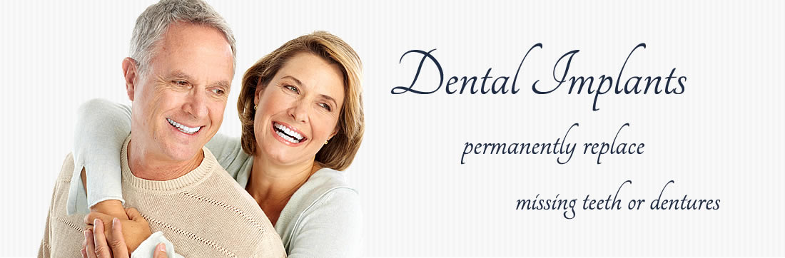 Dental Implants permanently replace missing teeth or dentures